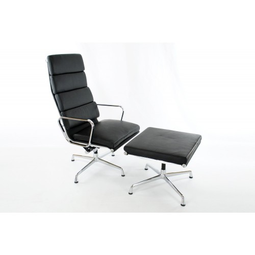 Eames soft pad lounge chair replica for Eames chair replica england